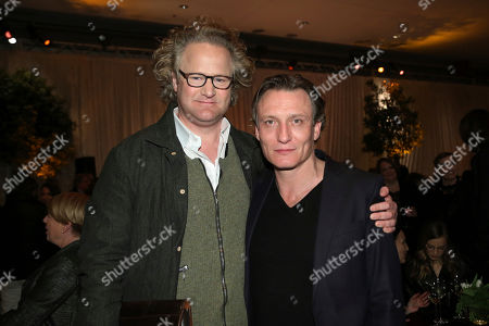 Florian Henckel Von Donnersmarck, Oliver Masucci. Florian Henckel Von Donnersmarck, left, and Oliver Masucci attend the 91st Academy Awards Foreign Language Nominees Reception at the LACMA, in Los Angeles