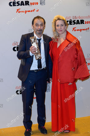 Director Andrea Bescond and Eric Metayer, winners of the award for Best Adaptation for 'Les Chatouilles'