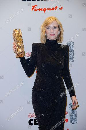 Lea Drucker winner of the award for Best Actress for 'Jusqu'a la garde'