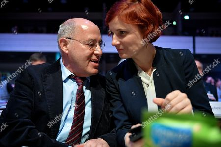 The President of the Party of the European Left Gregor Gysi (L) and the co-chairman of The Left (DIE LINKE) party Katja Kipping (R) attend the European convention of Germany's The Left (DIE LINKE) party at the World Conference Center in Bonn, Germany, 23 February 2019. The Left party will hold a three-day party convention from 22 February to adopt the European election program and establish for the European elections in May 2019.