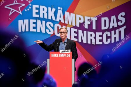 Co-leader of Germany's The Left (DIE LINKE) party faction Dietmar Bartsch delivers a speech at the party's European convention at the World Conference Center in Bonn, Germany, 23 February 2019. The Left party will hold a three-day party convention from 22 February to adopt the European election program and establish for the European elections in May 2019.