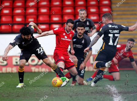 Matt Jarvis of Walsall  during the Sky Bet League 1 match at the Banks's Stadium, Walsall 220219