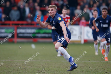 Southend United defender Taylor Moore, (23)  during the EFL Sky Bet League 1 match between Accrington Stanley and Southend United at the Fraser Eagle Stadium, Accrington