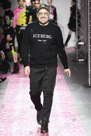 Stock Picture of James Long on the catwalk