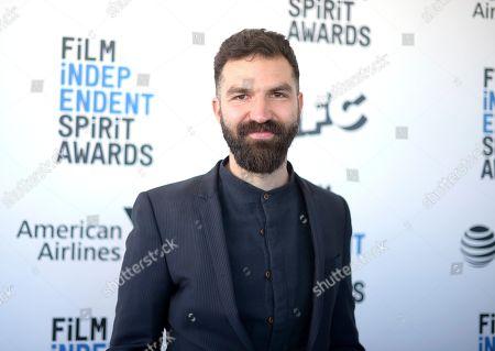 Stock Image of Jeremiah Zagar arrives at the 34th Film Independent Spirit Awards, in Santa Monica, Calif