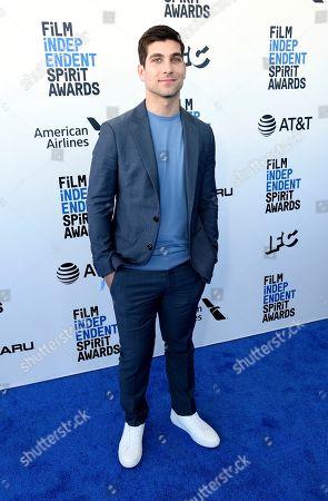 David Bernon arrives at the 34th Film Independent Spirit Awards, in Santa Monica, Calif