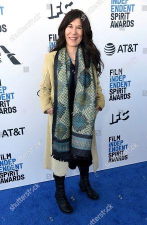 Stock Photo of Debra Granik arrives at the 34th Film Independent Spirit Awards, in Santa Monica, Calif