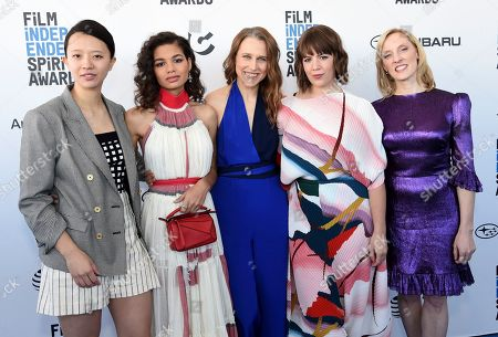 Elizabeth Rao, Helena Howard, Josephine Decker, Ashley Connor, Krista Parris. Elizabeth Rao, from left, Helena Howard, Josephine Decker, Ashley Connor, and Krista Parris arrive at the 34th Film Independent Spirit Awards, in Santa Monica, Calif