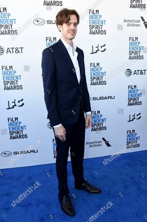 Cory Finley arrives at the 34th Film Independent Spirit Awards, in Santa Monica, Calif