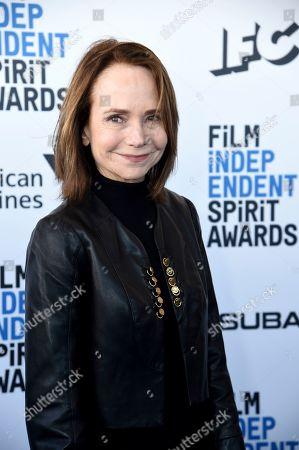 Jessica Harper arrives at the 34th Film Independent Spirit Awards, in Santa Monica, Calif