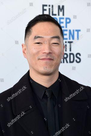 Leonardo Nam arrives at the 34th Film Independent Spirit Awards, in Santa Monica, Calif