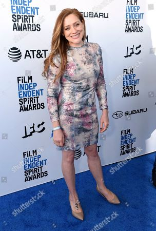 Augustine Frizzell arrives at the 34th Film Independent Spirit Awards, in Santa Monica, Calif