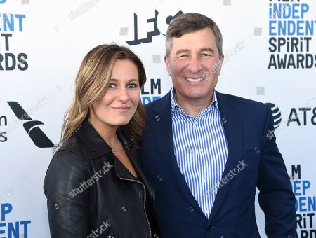 Lily Rivkin, Charles Rivkin. Lily Rivkin, left, and Charles Rivkin arrive at the 34th Film Independent Spirit Awards, in Santa Monica, Calif