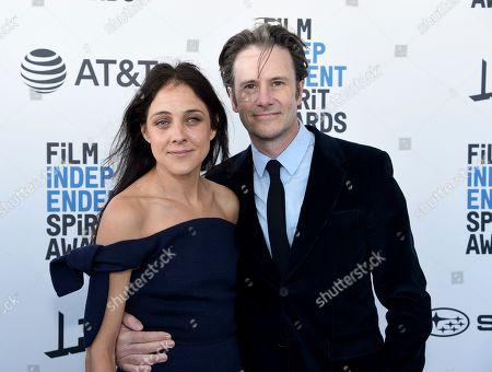Lily Thorne, Josh Hamilton. Lily Thorne, left, and Josh Hamilton arrive at the 34th Film Independent Spirit Awards, in Santa Monica, Calif