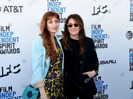 Marielle Heller, Nicole Holofcener. Marielle Heller, left, and Nicole Holofcener arrive at the 34th Film Independent Spirit Awards, in Santa Monica, Calif