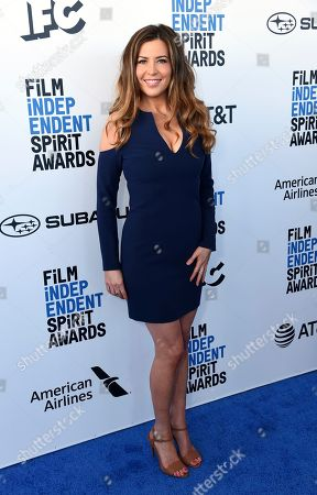 Ashley Cusato arrives at the 34th Film Independent Spirit Awards, in Santa Monica, Calif