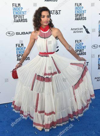 Helena Howard arrives at the 34th Film Independent Spirit Awards, in Santa Monica, Calif