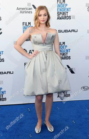 Ekaterina Samsonov arrives at the 34th Film Independent Spirit Awards, in Santa Monica, Calif