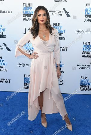 Katie Cleary arrives at the 34th Film Independent Spirit Awards, in Santa Monica, Calif