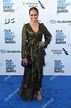 Dawn-Lyen Gardner arrives at the 34th Film Independent Spirit Awards, in Santa Monica, Calif