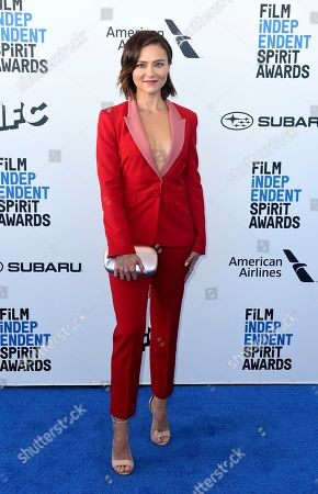Trieste Kelly Dunn arrives at the 34th Film Independent Spirit Awards, in Santa Monica, Calif