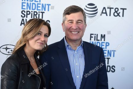 Charles Rivkin, Lily Rivkin. Charles Rivkin, right, and Lily Rivkin arrive at the 34th Film Independent Spirit Awards, in Santa Monica, Calif