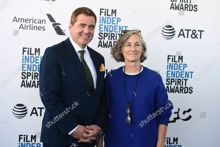 Josh Welsh, Mary Sweeney. Josh Welsh, left, and Mary Sweeney arrive at the 34th Film Independent Spirit Awards, in Santa Monica, Calif