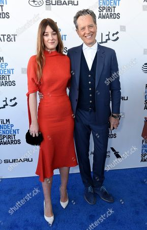 Olivia Grant, Richard E. Grant. Olivia Grant, left, and Richard E. Grant arrive at the 34th Film Independent Spirit Awards, in Santa Monica, Calif