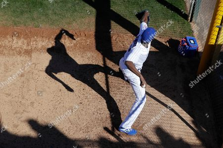 _DC1#2. Chicago Cubs' Carlos Ramirez throws in the bullpen during the fourth inning of a spring training baseball game against the Milwaukee Brewers, in Mesa, Ariz