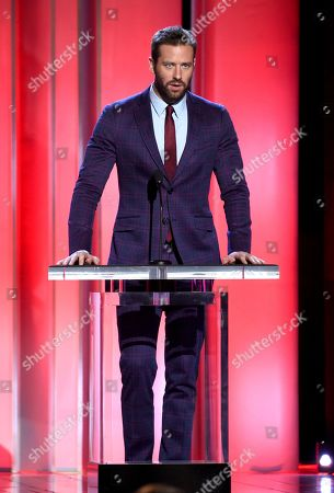 Armie Hammer presents the Robert Altman award at the 34th Film Independent Spirit Awards, in Santa Monica, Calif