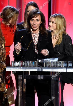 "Stella Savino accepts the Robert Altman award on behalf of Luca Guadagnino for ""Suspiria"" at the 34th Film Independent Spirit Awards, in Santa Monica, Calif"
