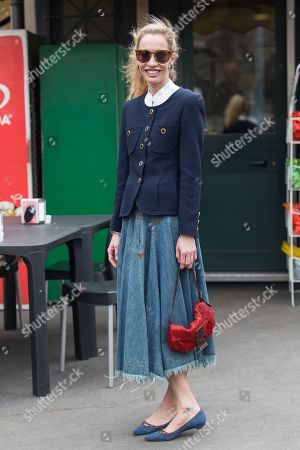 Editorial photo of Street Style, Fall Winter 2019, Milan Fashion Week, Italy - 23 Feb 2019