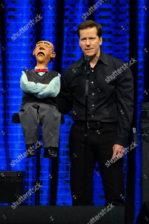 Jeff Dunham and Walter perform on the Passively Aggressive Tour at the Frank Erwin Center on February 15, 2019 in Austin, Texas.