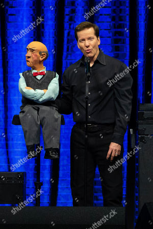 Stock Image of Jeff Dunham and Walter perform on the Passively Aggressive Tour at the Frank Erwin Center on February 15, 2019 in Austin, Texas.