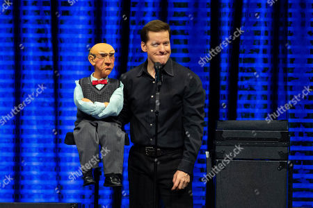 Stock Picture of Jeff Dunham and Walter perform on the Passively Aggressive Tour at the Frank Erwin Center on February 15, 2019 in Austin, Texas.