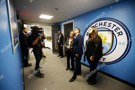Stock Photo of Carabao Cup fans tour around Wembley Stadium with former Manchester City player Paul Dickov