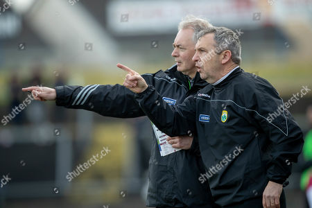 Galway vs Kerry. Kerry manager Peter Keane with selector James Foley