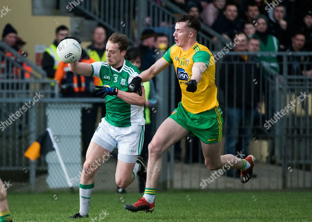 Donegal v Fermanagh. Donegal's Jason McGee with Fermanagh's Lee Cullen