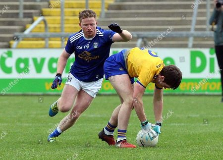 Cavan vs Roscommon. Cavan's Jack Brady and David Murray of Roscommon