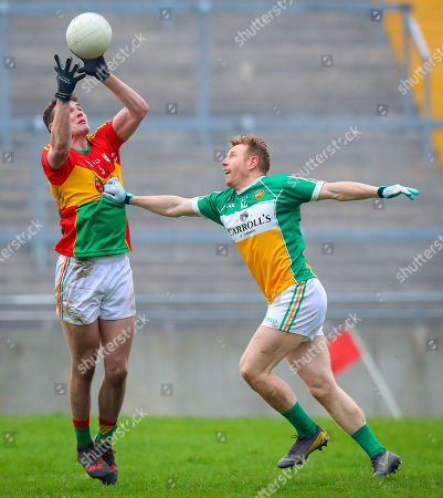Stock Picture of Offaly vs Carlow. Offaly's Niall Darby with Jordan Morrissey of Carlow