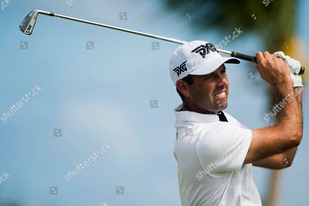 Charl Schwartzel of South Africa tees off the tenth hole during the final round of the Puerto Rico Open PGA golf tournament in Rio Grande, Puerto Rico