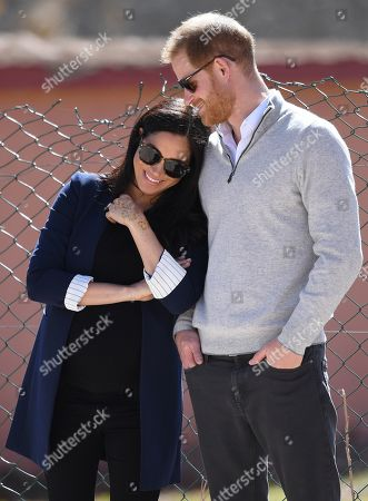Meghan Duchess of Sussex and Prince Harry in Asni Town