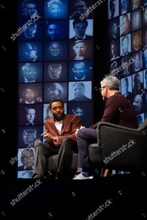 Chiwetel Ejiofor in conversation with Jason Solomons at the 'A Life in Pictures with Chiwetel Ejiofor ' event held at BAFTA's 195 Piccadilly headquarters