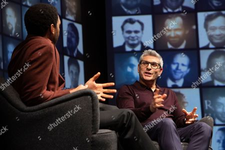 Stock Picture of Chiwetel Ejiofor in conversation with Jason Solomons at the 'A Life in Pictures with Chiwetel Ejiofor ' event held at BAFTA's 195 Piccadilly headquarters