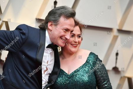 Stock Image of Bernard Hiller, Liza Raff. Bernard Hiller, left, and Liza Raff arrive at the Oscars, at the Dolby Theatre in Los Angeles