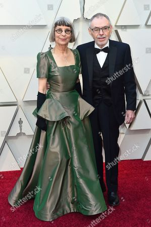 Lois Burwell, John Toll. Lois Burwell, left, and John Toll arrive at the Oscars, at the Dolby Theatre in Los Angeles