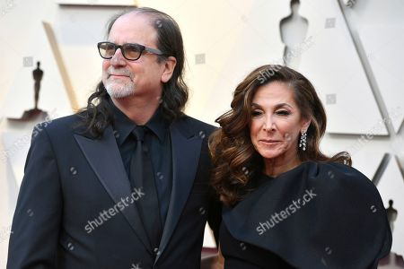 Stock Image of Glenn Weiss, Jan Svendsen. Xx arrives at the Oscars, at the Dolby Theatre in Los Angeles