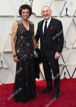 Stock Picture of Cheryl Boone Isaacs, Stanley Isaacs. Cheryl Boone Isaacs, left, and Stanley Isaacs arrive at the Oscars, at the Dolby Theatre in Los Angeles