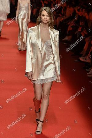 Birgit Kos on the catwalk