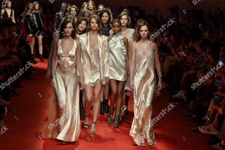 Editorial picture of Philosophy di Lorenzo Serafini show, Runway, Fall Winter 2019, Milan Fashion Week, Italy - 23 Feb 2019